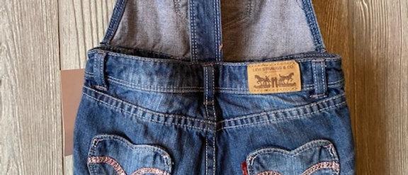 Vintage Kids Levis Cut Off Overalls Size 4T