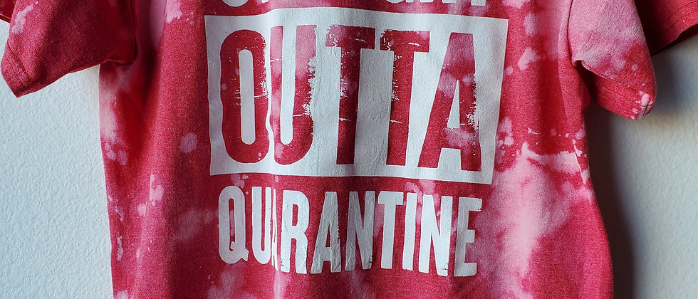 Vintage Tie Dye STRAIGHT OUTTA QUARANTINE Shirt-Medium