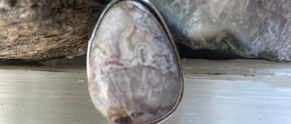 Laguna Lace Agate Ring Size 9