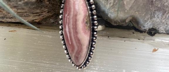 Rhodochrosite Ring Size 8