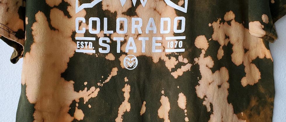 Vintage Tie Dye COLORADO STATE 1870 Shirt-Large