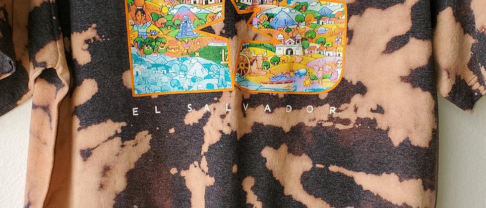 Vintage Tie Dye EL SALVADOR Shirt-Large
