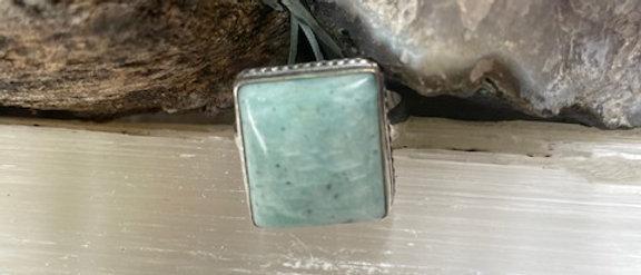 Amazonite Ring Size 9