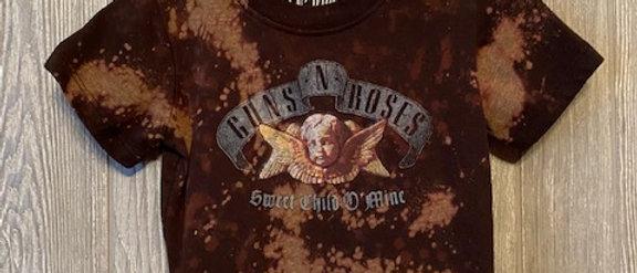 Hipster Guns and Roses Sweet Child Of Mine Infant/Toddler Acid Splashed T-Shirt