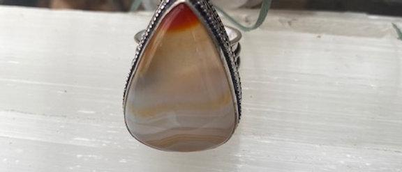 Botswana Agate Ring Size 10.5