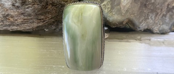 Larsonite Jasper Ring Size 8
