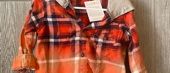 Infant Flannel with hood 24 months