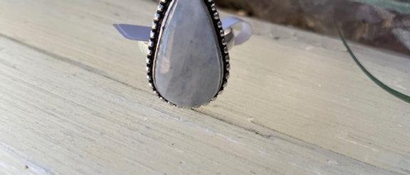Rainbow Moonstone Ring Size 8