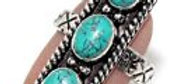 African Turquoise Ring Size 7
