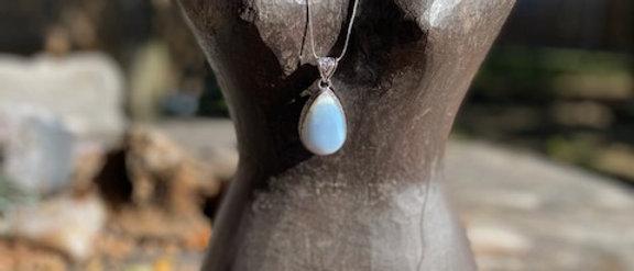 Owyhee Blue Opal Pendant Necklace