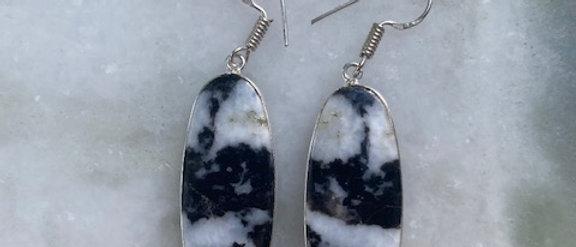 White Buffalo Turquoise Earrings