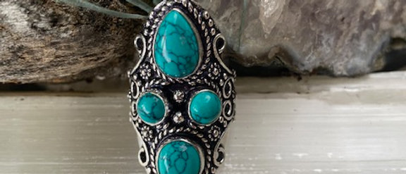 Howlite Ring Size 8