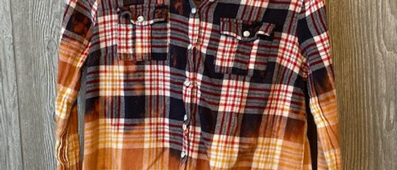 Youth Flannel with hood Size 10
