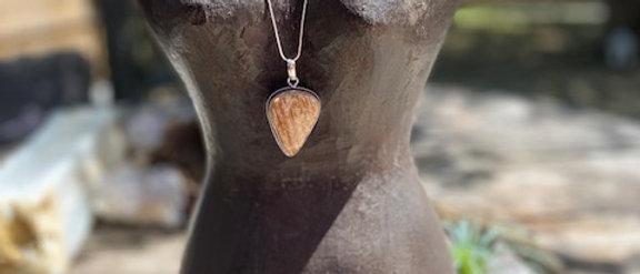 Picture Jasper Pendant Necklace