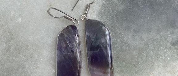 Amethyst Lace Earrings
