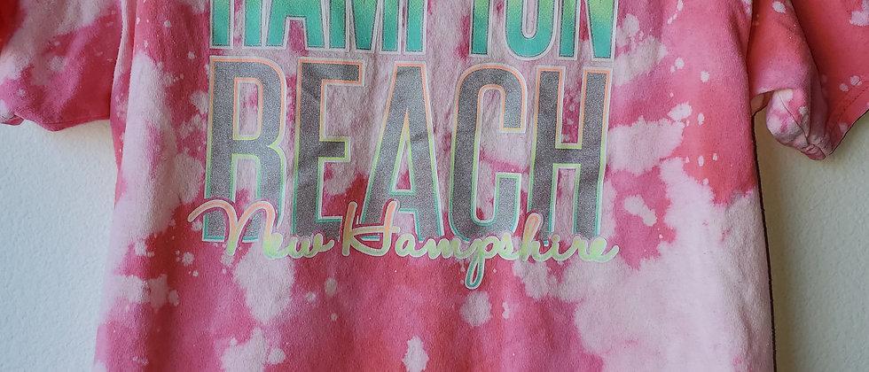 Vintage Tie Dye HAMPTON BEACH Shirt-Large