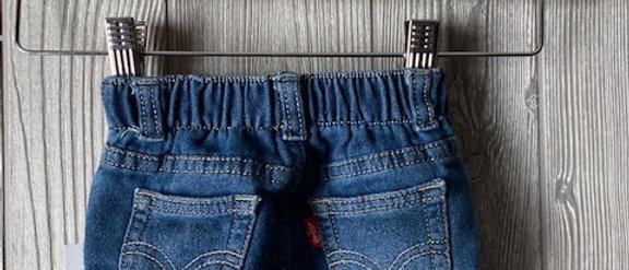Vintage Kids Levi's Cut Off Shorts Size 0-6 months
