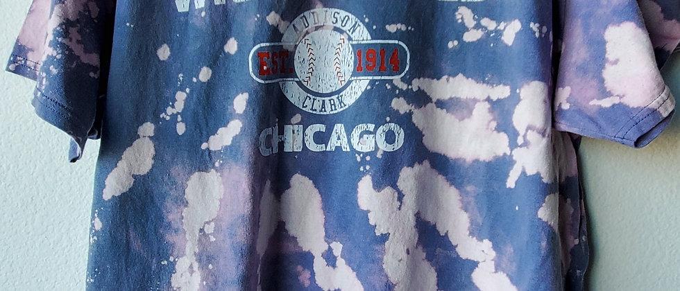 Vintage Tie Dye WRIGLEY FIELD Shirt-XL