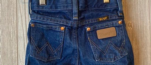 Vintage Kids Wrangler Cut Off Shorts Size 5