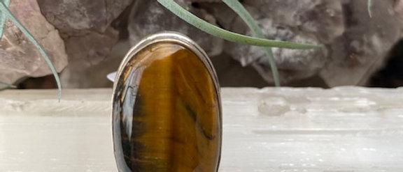 Tiger Eye Ring Size 5.5