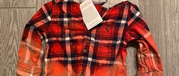 Infant Flannel with hood 12 months