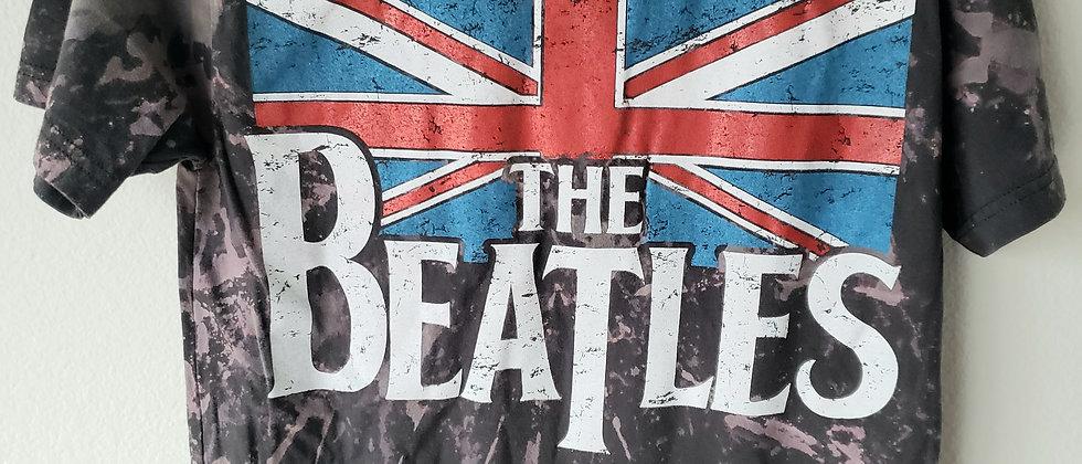 Beatles Flag Acid Splashed Tee Shirt