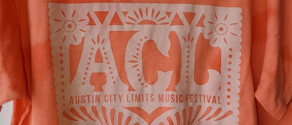 Vintage Tie Dye AUSTIN CITY LIMITS HALF-Shirt-Medium