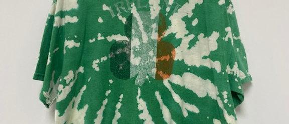 Vintage Tie Dye IRELAND CLOVER Shirt-2XL