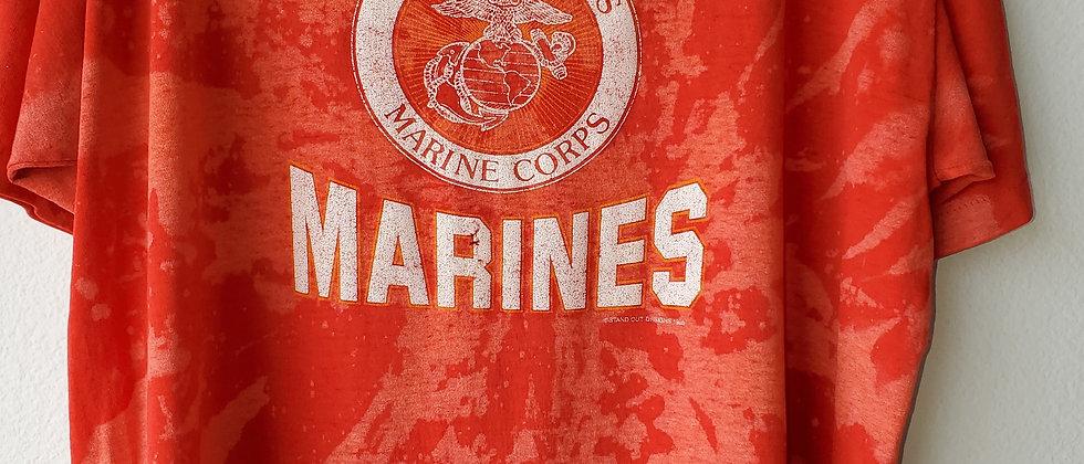 Vintage Tie Dye US MARINES Shirt-Large