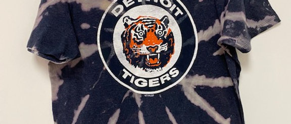 Vintage Tie Dye Detroit Tigers Shirt-Medium
