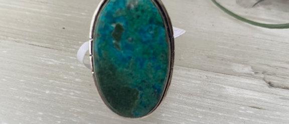 Chrysocolla Ring Size 7