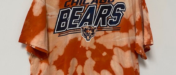 Vintage Tie Dye CHICAGO BEARS Shirt-2XL