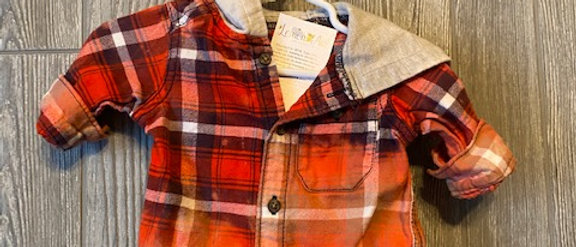 Infant Flannel with hood 3 months
