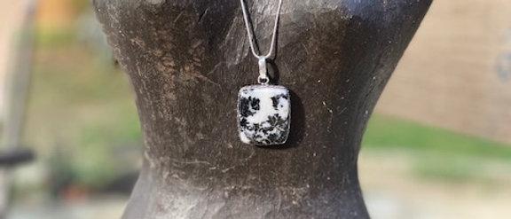 White Buffalo Turquoise Pendant Necklace