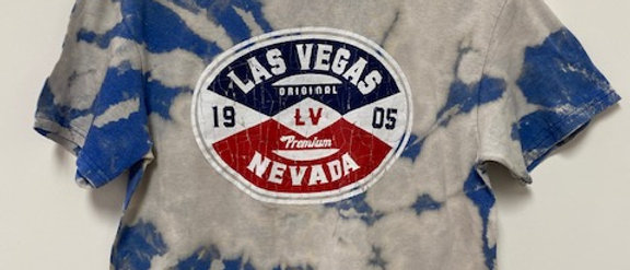 Vintage Tie Dye Las Vegas Shirt-Medium