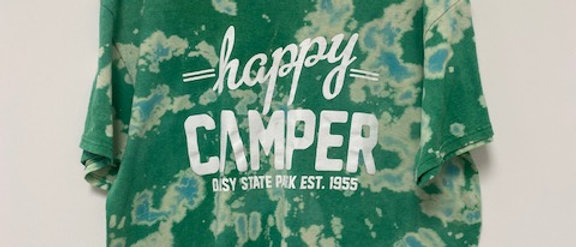 Vintage Tie Dye HAPPY CAMPER Shirt-XL