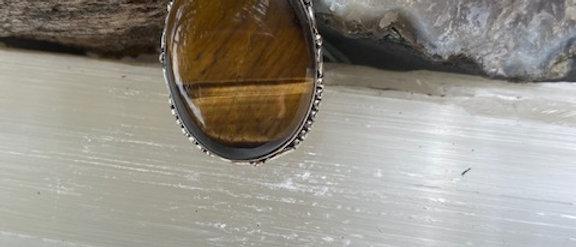 Tiger Eye Ring Size 9.5