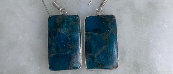 Blue Apatite Earrings