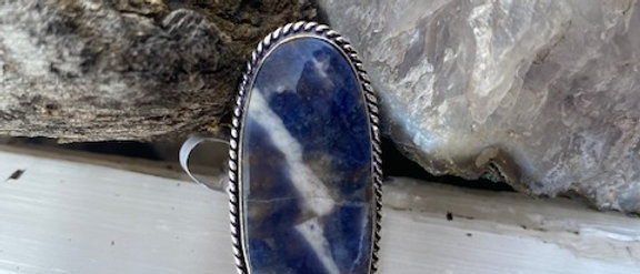Sodalite Ring Size 8.5
