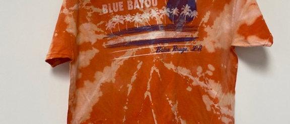 Vintage Tie Dye Blue Bayou Shirt-Large