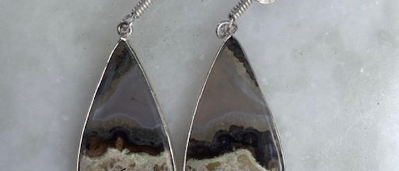 Stick Agate Earrings