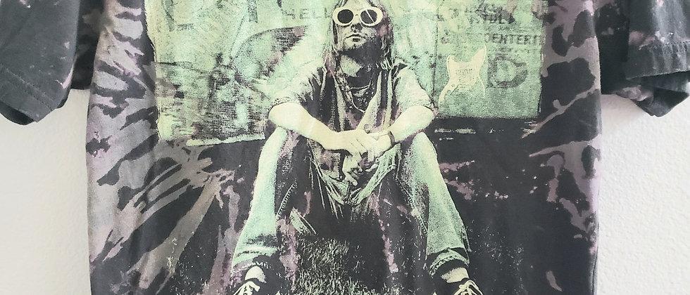 Kurt Cobain/Nirvana Acid Splashed Tee Shirt