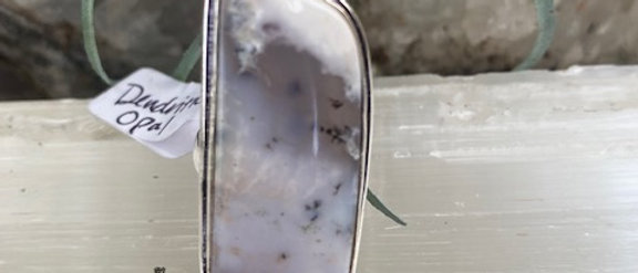 Dendritic Opal Ring Size 9.5