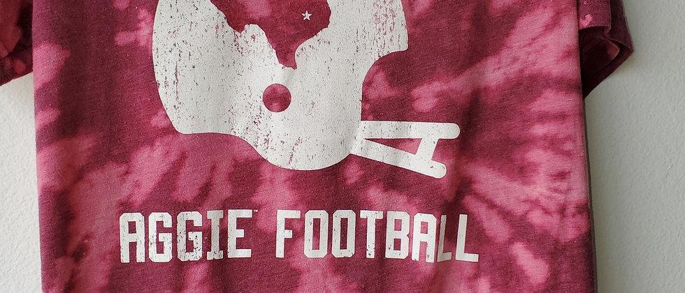 Vintage Tie Dye AGGIE FOOTBALL Shirt-Large