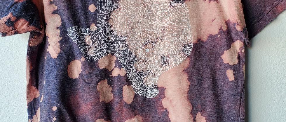 Vintage Tie Dye ALL THINGS TEXAS Shirt-Medium