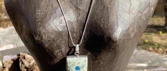 Blue Azurite Pendant Necklace