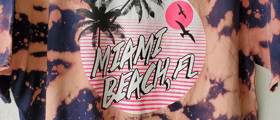 Vintage Tie Dye MIAMI BEACH Shirt-Large