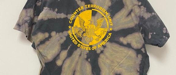 Vintage Tie Dye Counter Terrorism Unit Shirt-XL