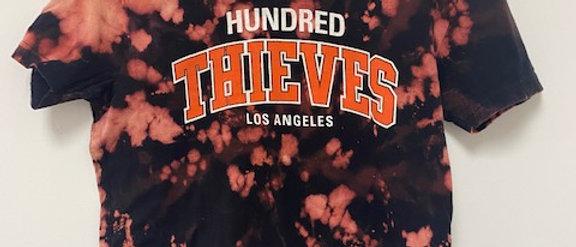 Vintage Tie Dye HUNDRED THIEVES LA Shirt-Small