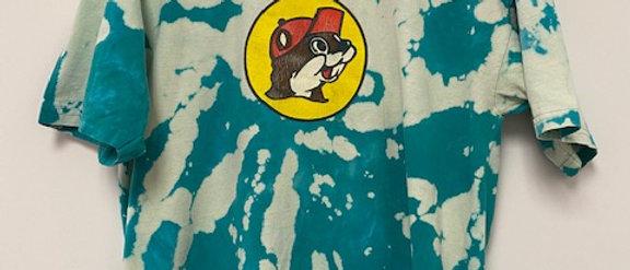 Vintage Tie Dye Buckee's Beaver Shirt-Large